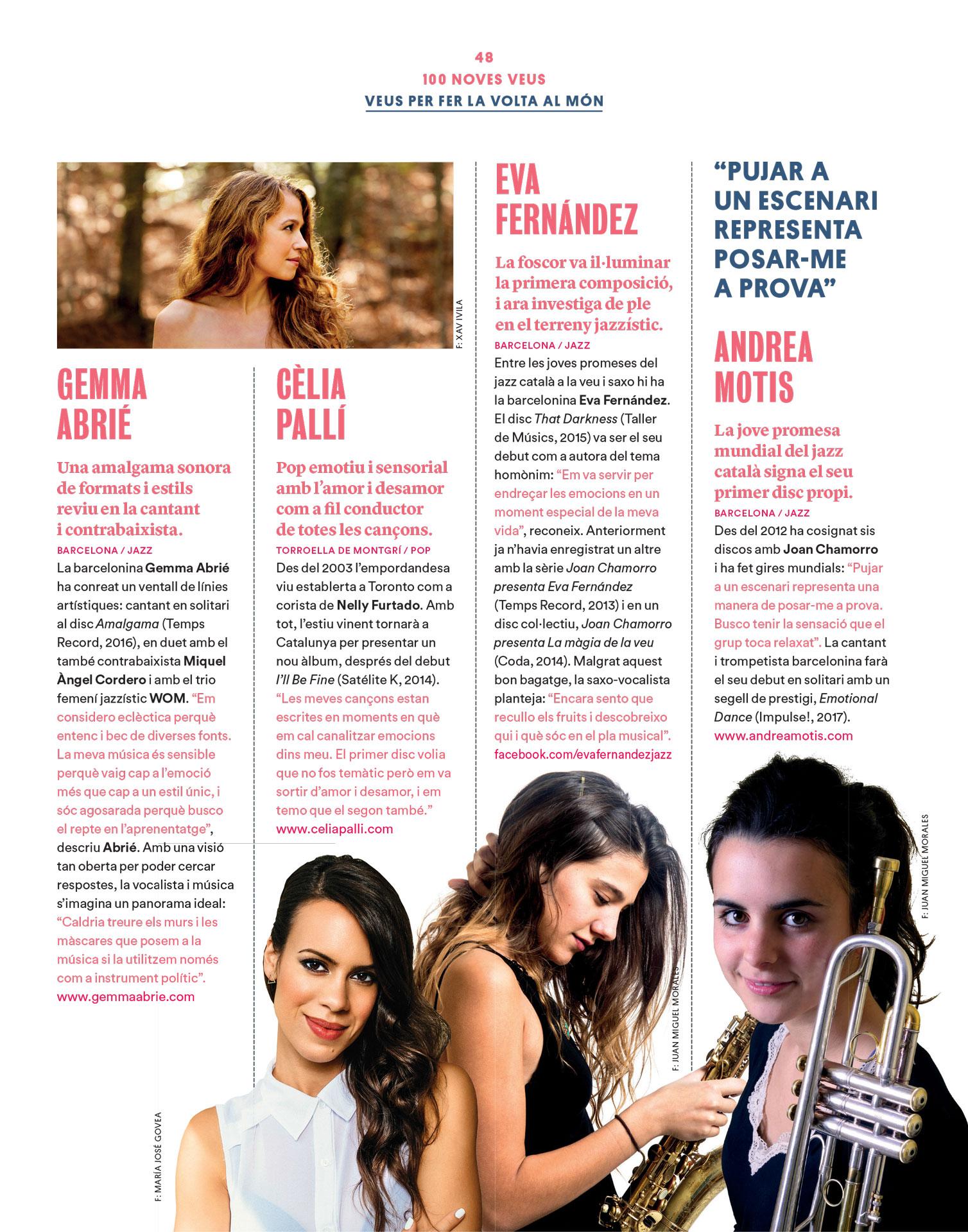 Gemma Abrié revista Enderrock novembre 2016
