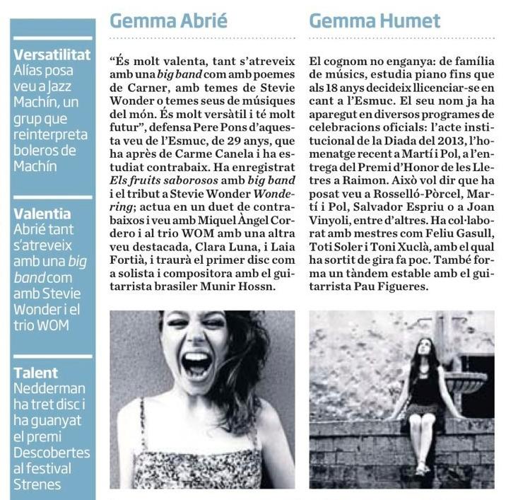 Gemma Abrié suplement Diari ARA